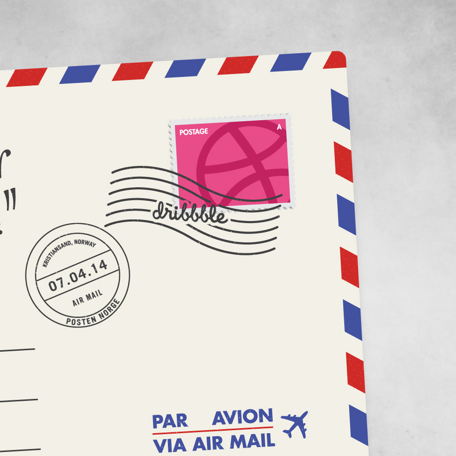 dribbble air mail