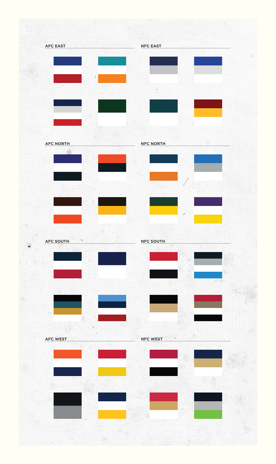 colors of the nfl