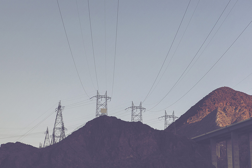 hoover dam - power lines