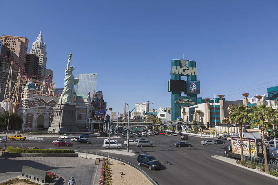 las vegas - new york, new york, the strip and mgm grand