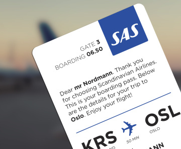 sas boarding pass