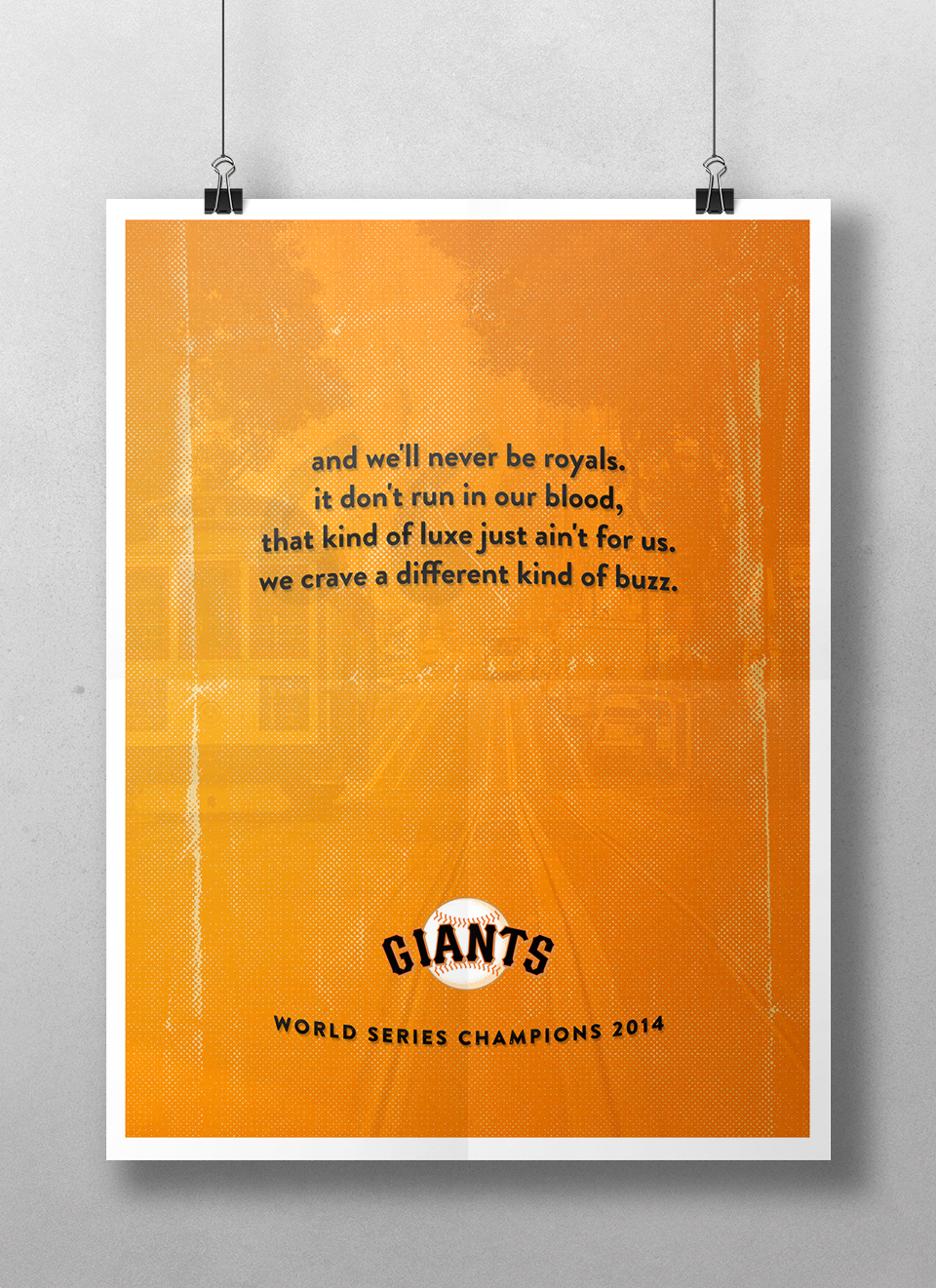 san francisco giants - world series champions 2014 poster