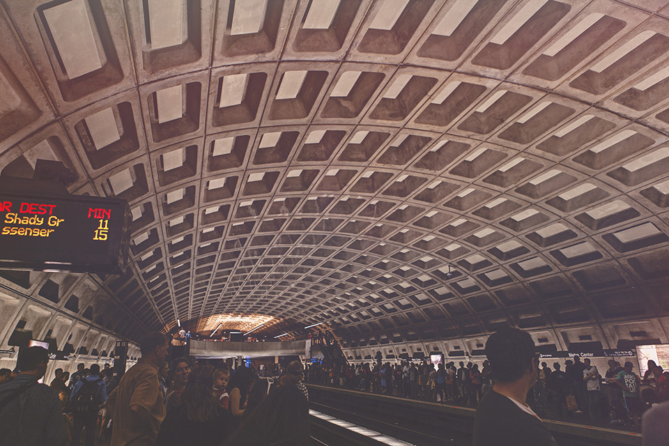 washington d.c. - metro station