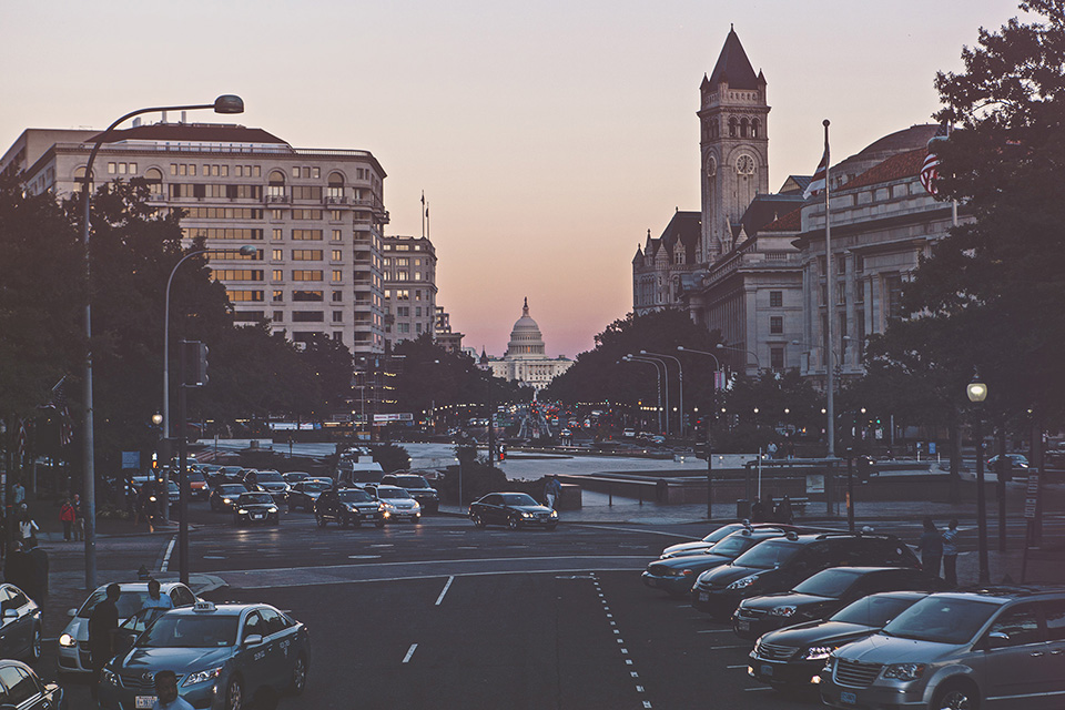 washington d.c. - pennsylvania avenue and the united states capitol